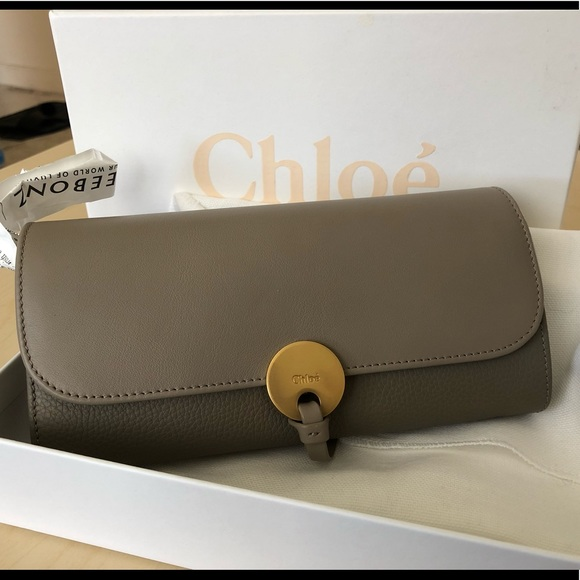 42644c8202d4 Chloe Indy Long Wallet with Flap Motty Grey